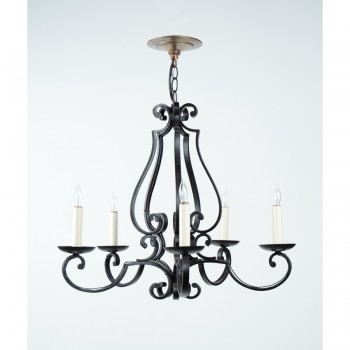 French 5-Arm Chandelier