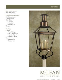 Catalog Mclean Lighting