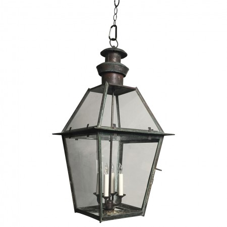 Antique Hanging New Englad Street Lantern